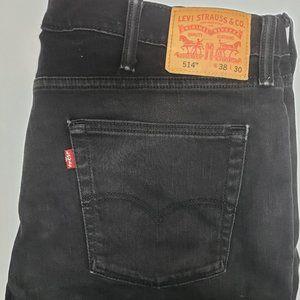 Levis 514 Black Jeans 38 x 30